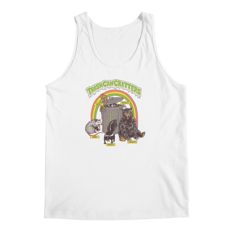 Trash Can Critters Men's Regular Tank by Hillary White