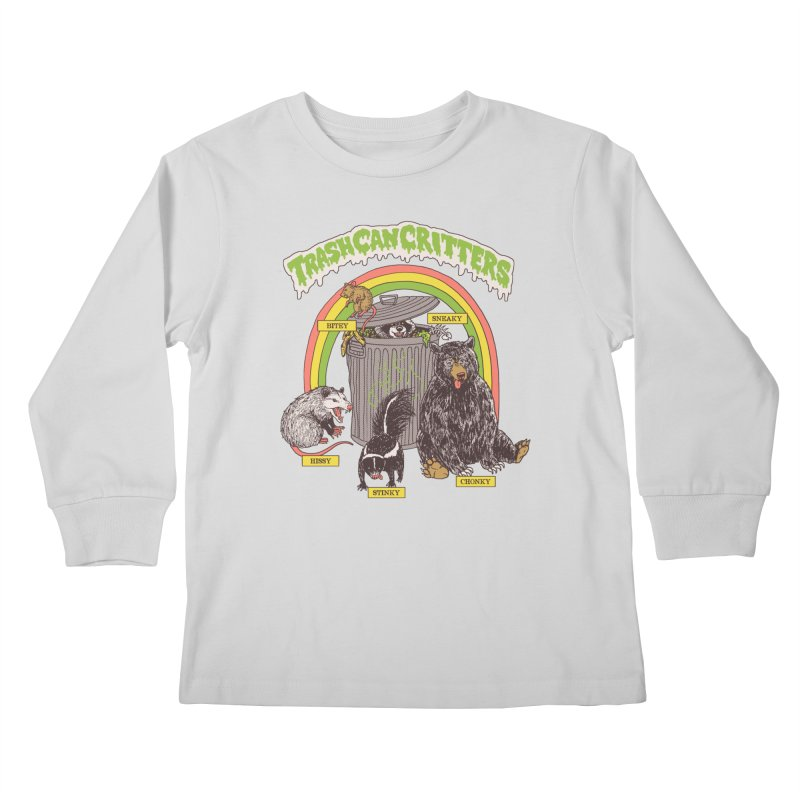 Trash Can Critters Kids Longsleeve T-Shirt by Hillary White