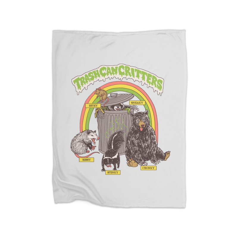 Trash Can Critters Home Fleece Blanket Blanket by Hillary White