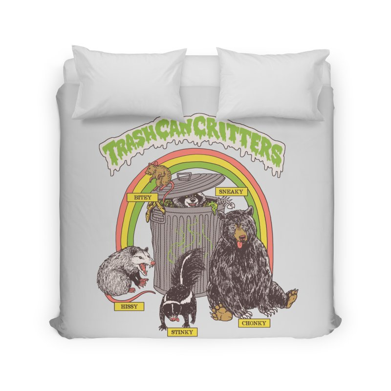 Trash Can Critters Home Duvet by Hillary White