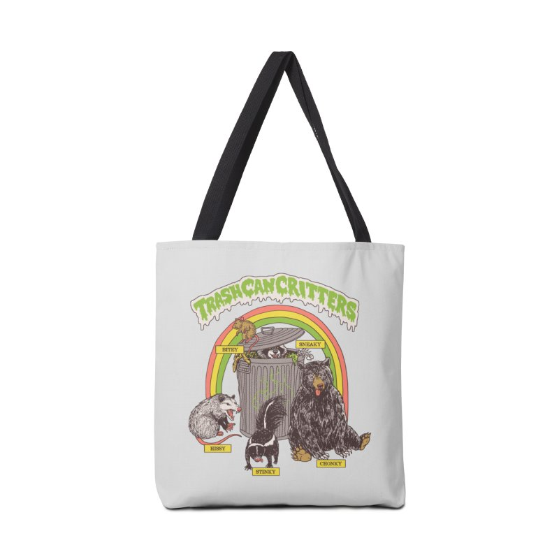 Trash Can Critters Accessories Tote Bag Bag by Hillary White