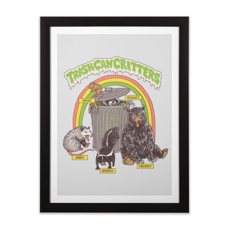 Trash Can Critters Home Framed Fine Art Print by Hillary White
