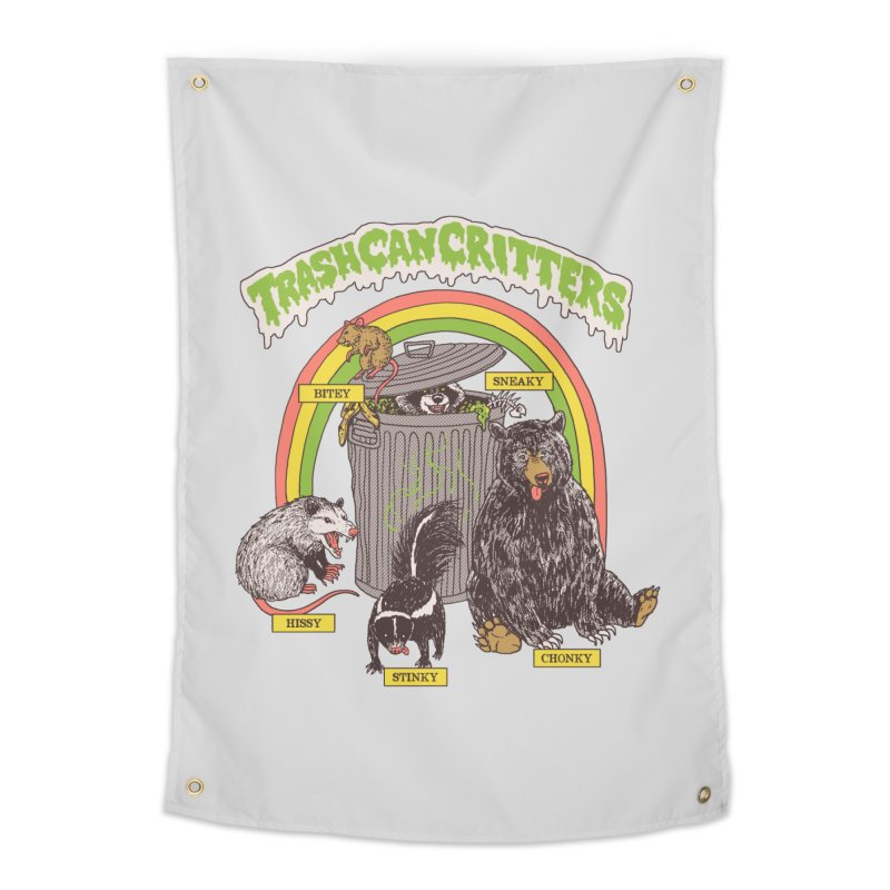Trash Can Critters Home Tapestry by Hillary White