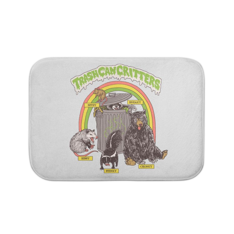 Trash Can Critters Home Bath Mat by Hillary White