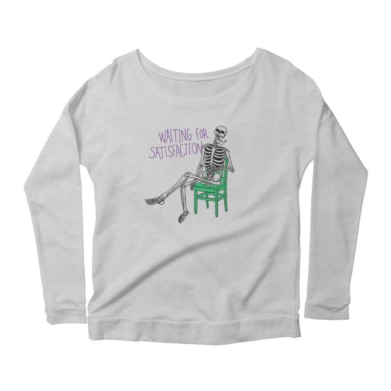 Still Waiting Women's Scoop Neck Longsleeve T-Shirt by Hillary White