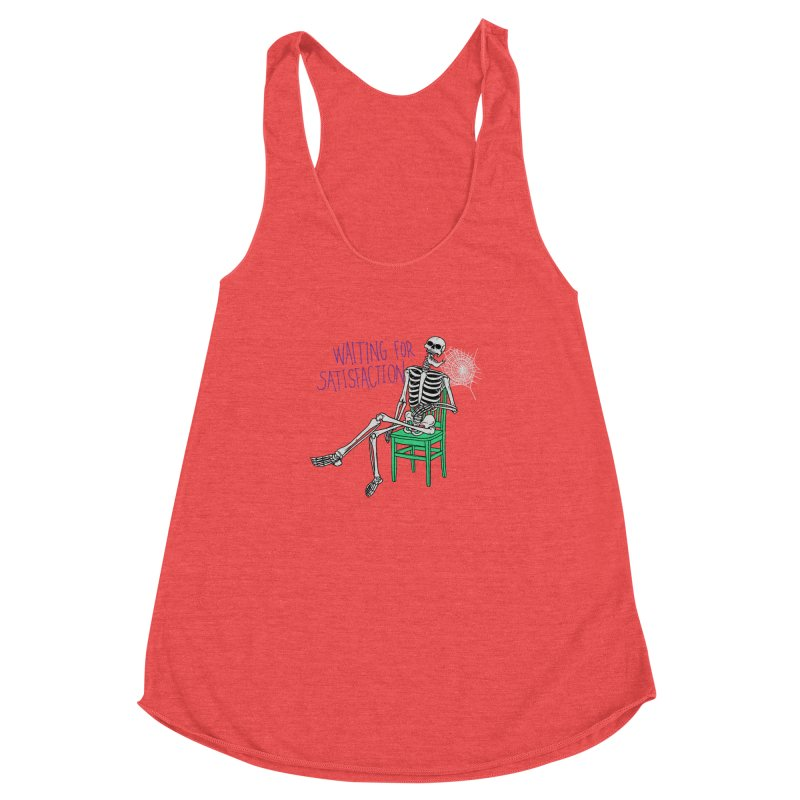 Still Waiting Women's Racerback Triblend Tank by Hillary White