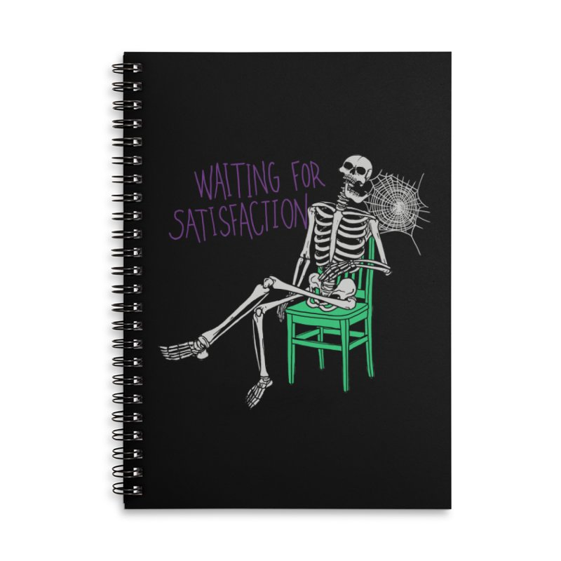 Still Waiting Accessories Lined Spiral Notebook by Hillary White