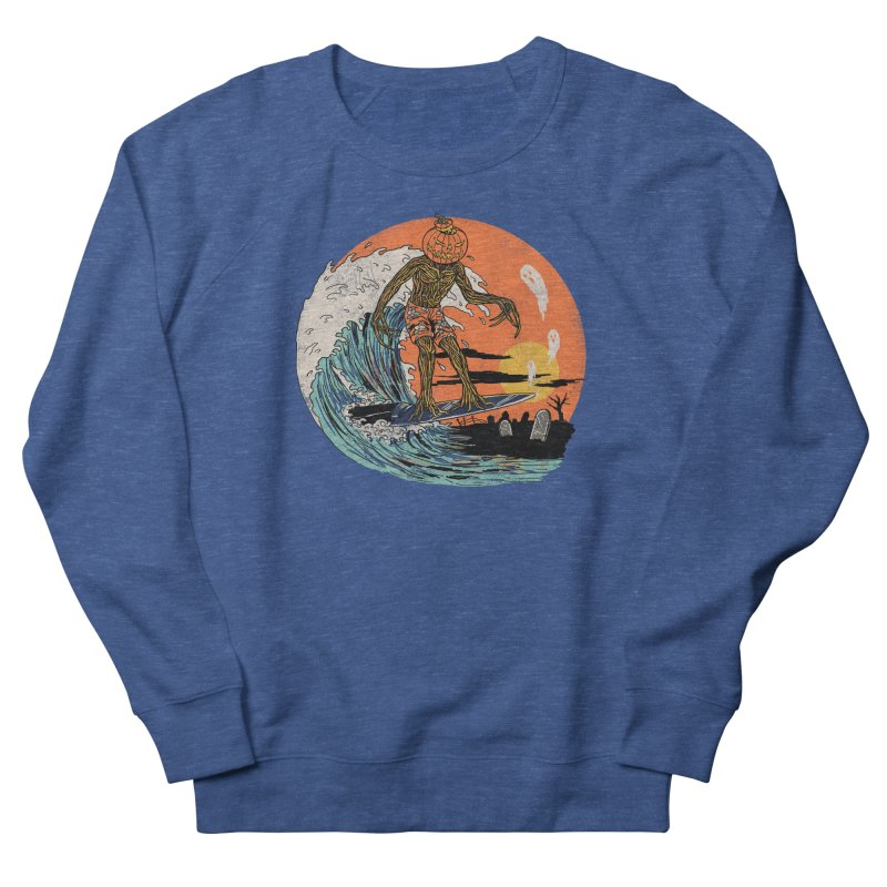 Carve The Wave Women's French Terry Sweatshirt by Hillary White