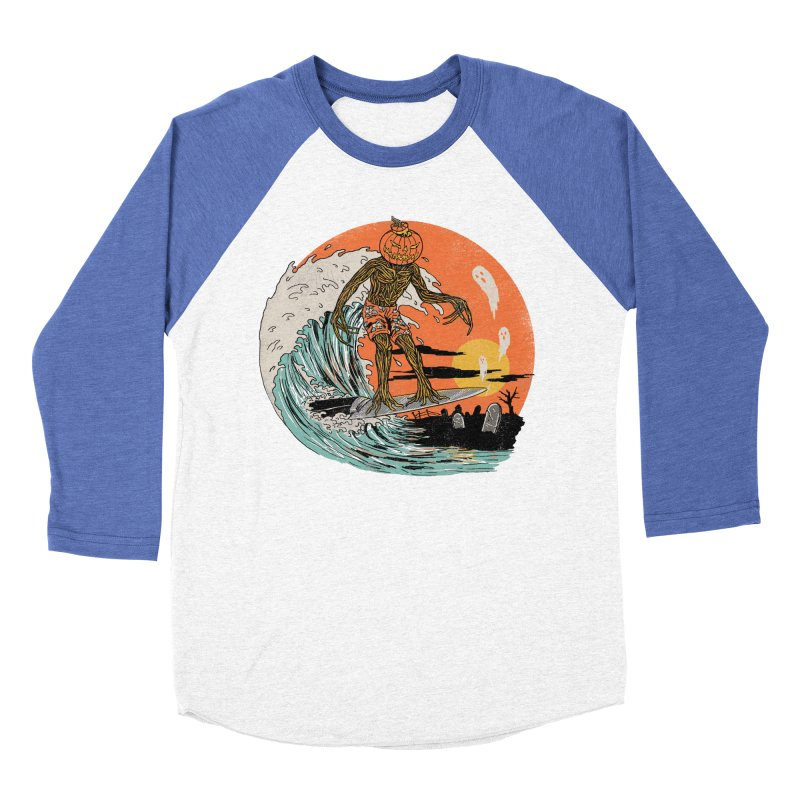 Carve The Wave Men's Baseball Triblend Longsleeve T-Shirt by Hillary White