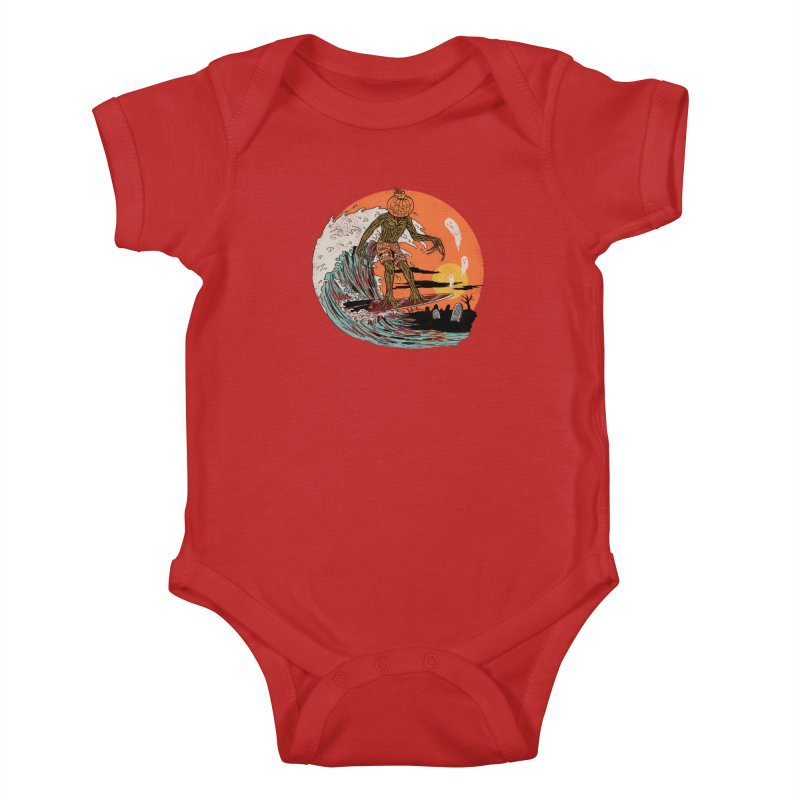 Carve The Wave Kids Baby Bodysuit by Hillary White