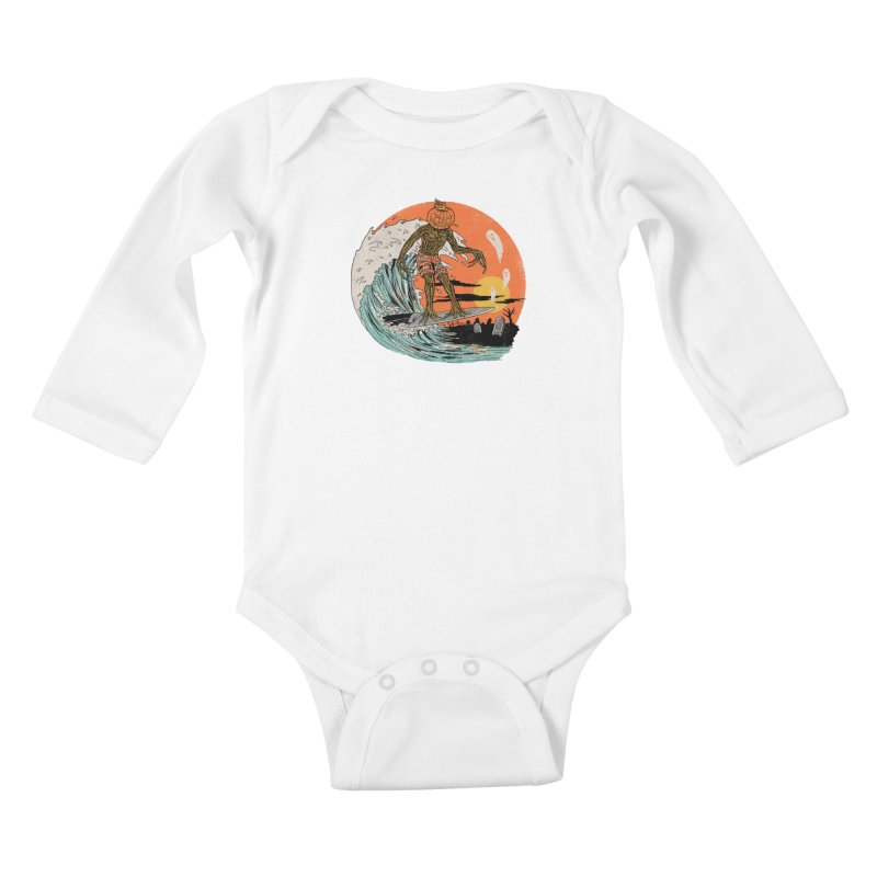 Carve The Wave Kids Baby Longsleeve Bodysuit by Hillary White