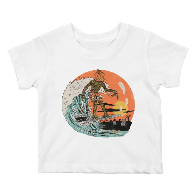 Carve The Wave Kids Baby T-Shirt by Hillary White