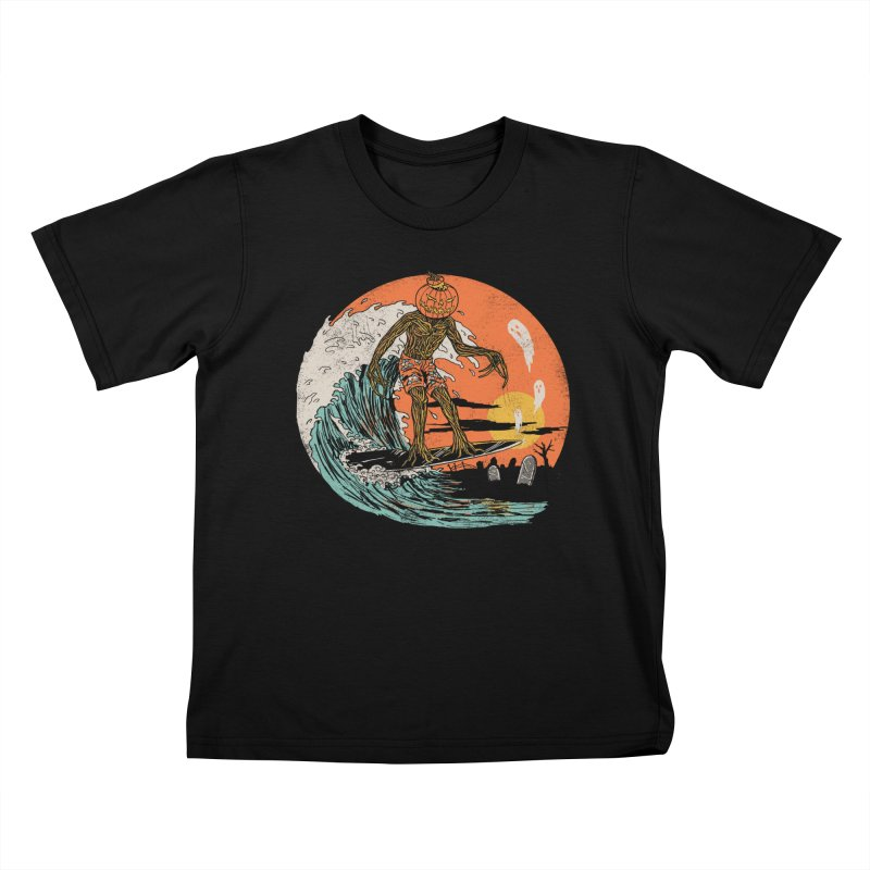 Carve The Wave Kids T-Shirt by Hillary White