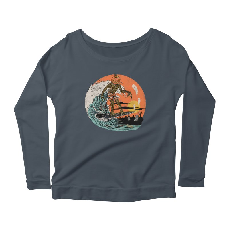 Carve The Wave Women's Scoop Neck Longsleeve T-Shirt by Hillary White