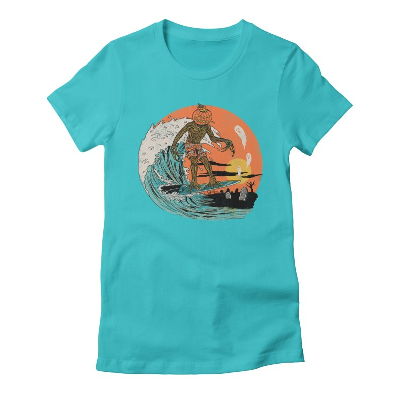 Carve The Wave Women's Fitted T-Shirt by Hillary White