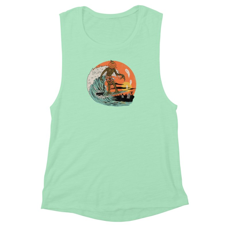 Carve The Wave Women's Muscle Tank by Hillary White