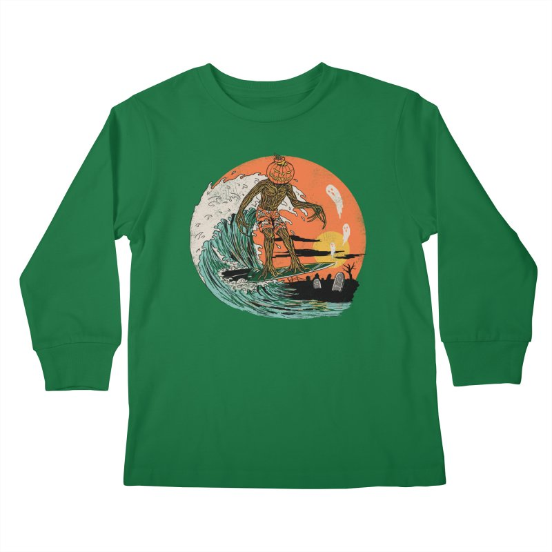 Carve The Wave Kids Longsleeve T-Shirt by Hillary White