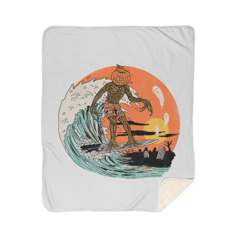 Carve The Wave Home Sherpa Blanket Blanket by Hillary White