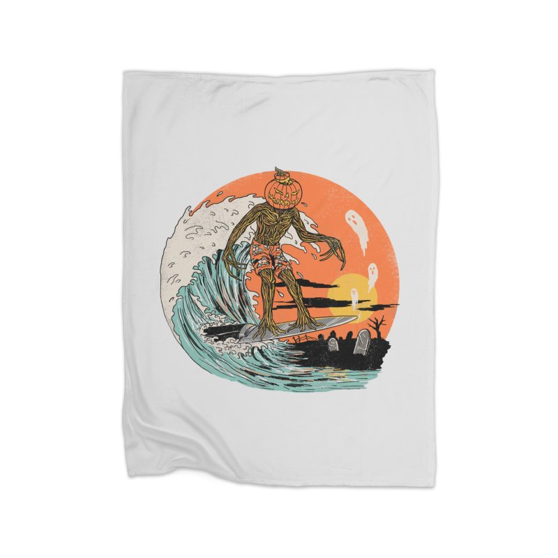 Carve The Wave Home Fleece Blanket Blanket by Hillary White