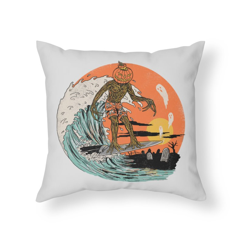 Carve The Wave Home Throw Pillow by Hillary White