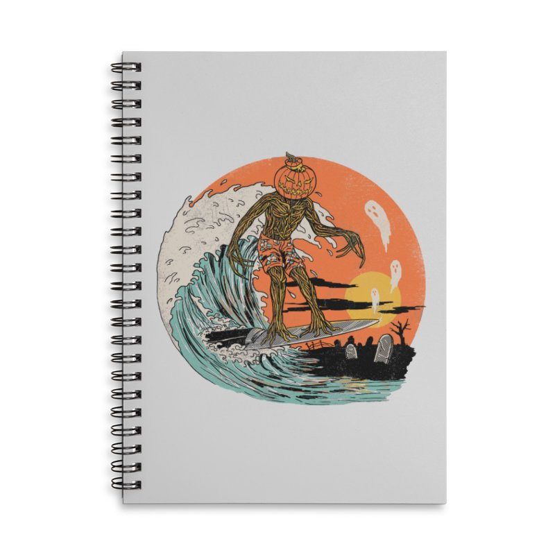 Carve The Wave Accessories Lined Spiral Notebook by Hillary White