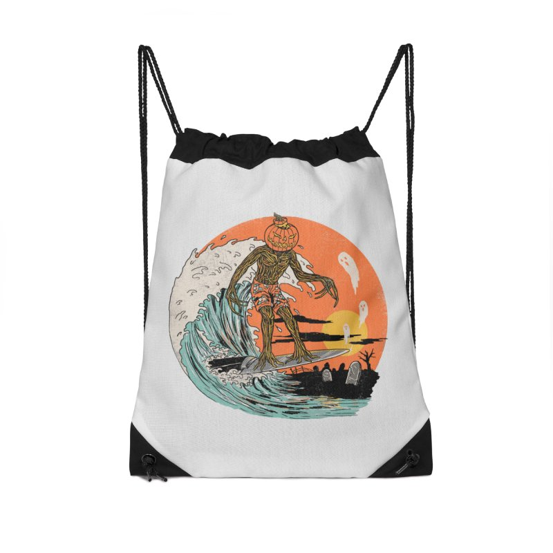 Carve The Wave Accessories Drawstring Bag Bag by Hillary White