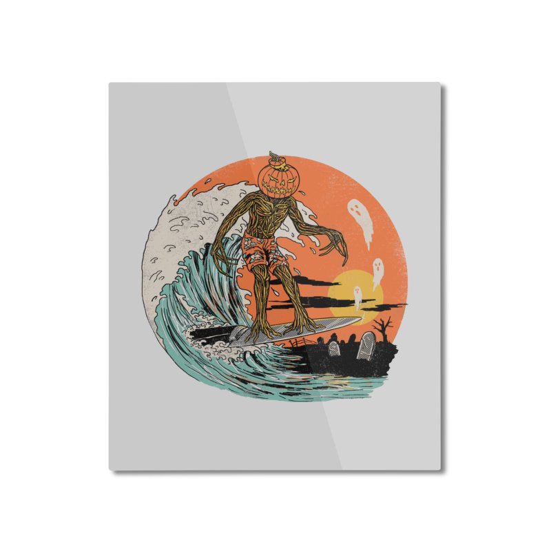 Carve The Wave Home Mounted Aluminum Print by Hillary White