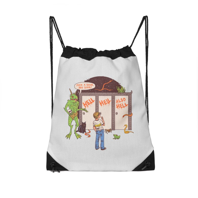 Life Choices Accessories Drawstring Bag Bag by Hillary White
