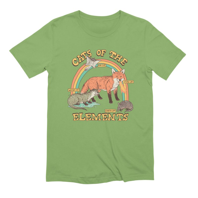 Cats Of The Elements Men's Extra Soft T-Shirt by Hillary White