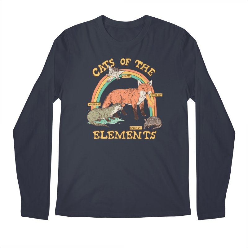 Cats Of The Elements Men's Regular Longsleeve T-Shirt by Hillary White