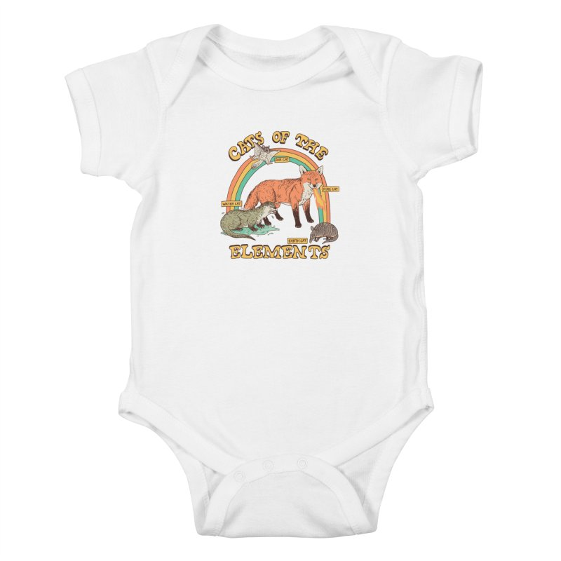 Cats Of The Elements Kids Baby Bodysuit by Hillary White