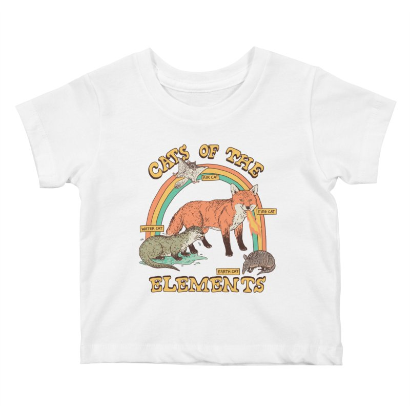 Cats Of The Elements Kids Baby T-Shirt by Hillary White