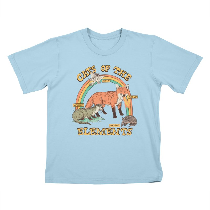 Cats Of The Elements Kids T-Shirt by Hillary White