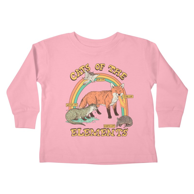 Cats Of The Elements Kids Toddler Longsleeve T-Shirt by Hillary White