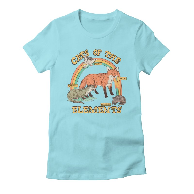 Cats Of The Elements Women's Fitted T-Shirt by Hillary White