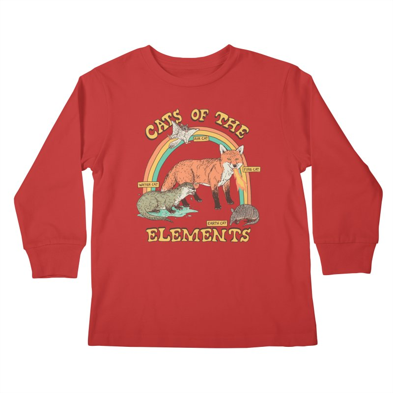 Cats Of The Elements Kids Longsleeve T-Shirt by Hillary White