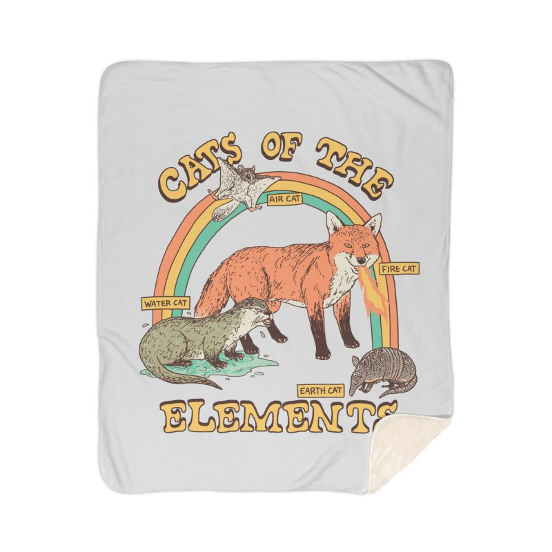 Cats Of The Elements Home Sherpa Blanket Blanket by Hillary White