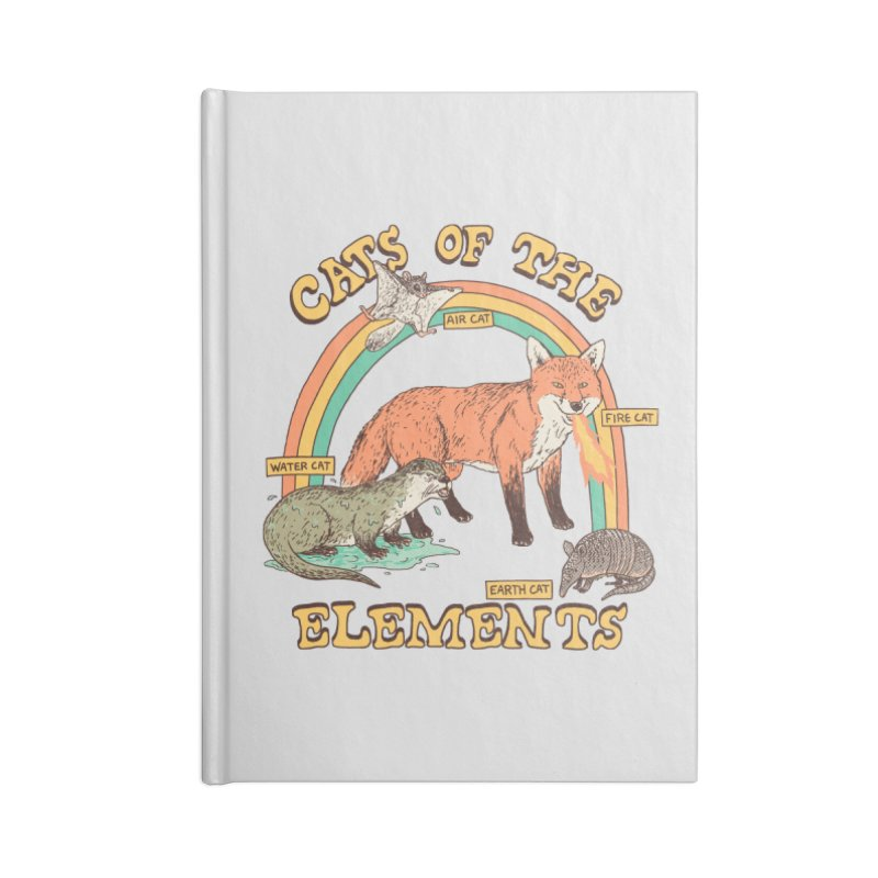 Cats Of The Elements Accessories Lined Journal Notebook by Hillary White