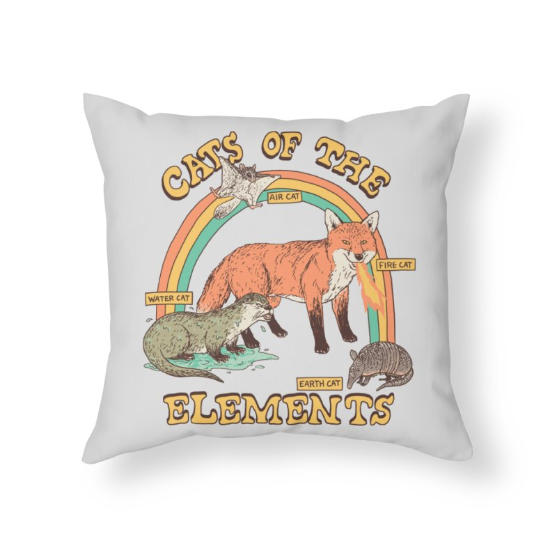 Cats Of The Elements Home Throw Pillow by Hillary White