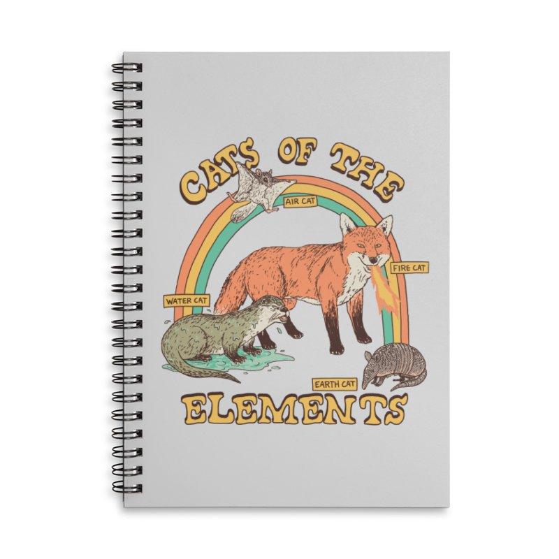 Cats Of The Elements Accessories Lined Spiral Notebook by Hillary White