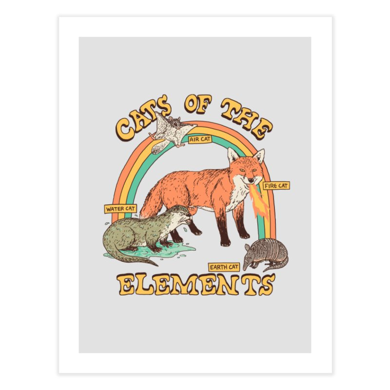 Cats Of The Elements Home Fine Art Print by Hillary White