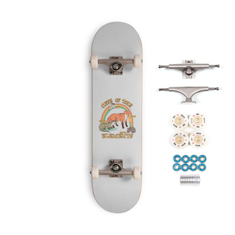 Cats Of The Elements Accessories Complete - Premium Skateboard by Hillary White
