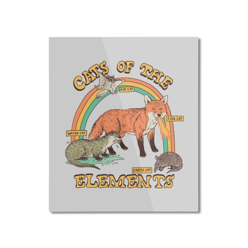 Cats Of The Elements Home Mounted Aluminum Print by Hillary White