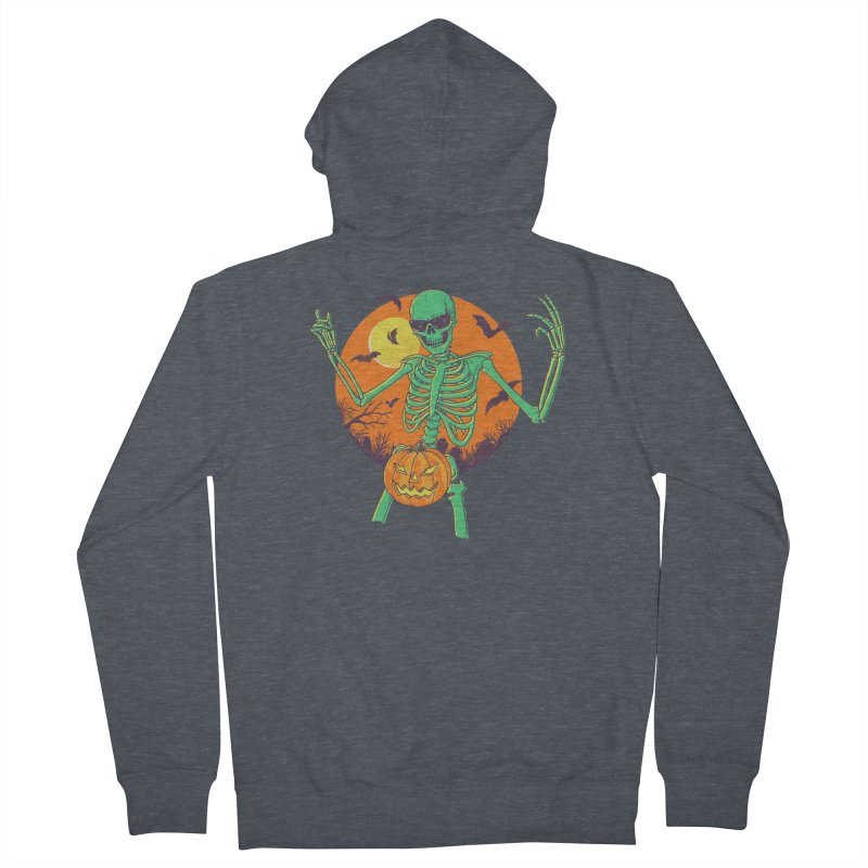 Bone In A Gourd Men's French Terry Zip-Up Hoody by Hillary White