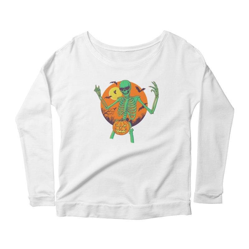 Bone In A Gourd Women's Scoop Neck Longsleeve T-Shirt by Hillary White