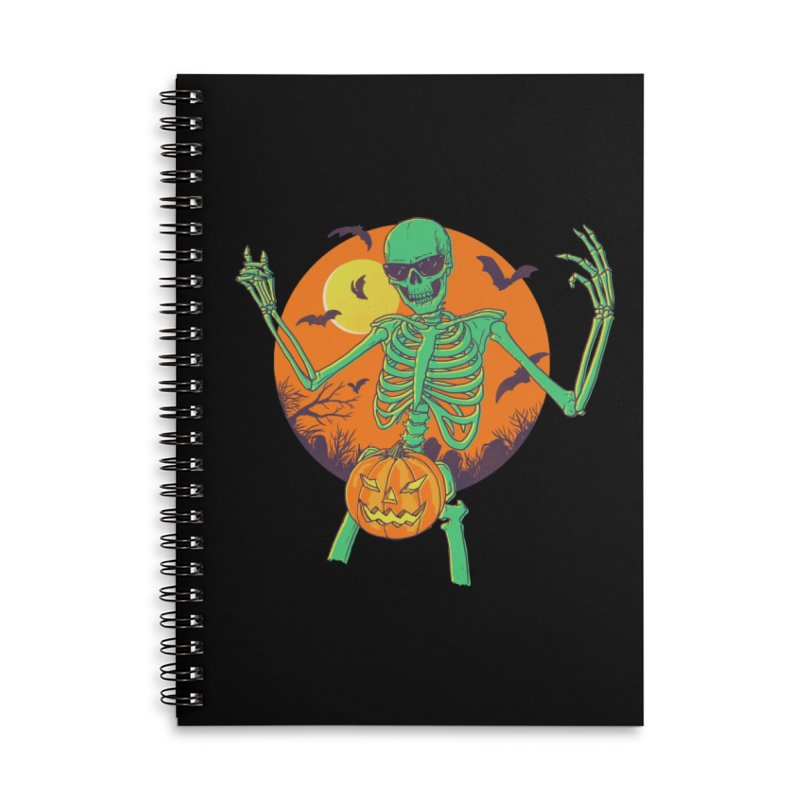 Bone In A Gourd Accessories Lined Spiral Notebook by Hillary White