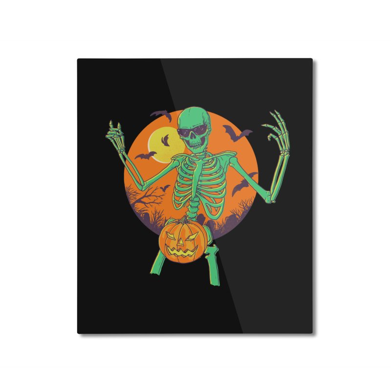 Bone In A Gourd Home Mounted Aluminum Print by Hillary White