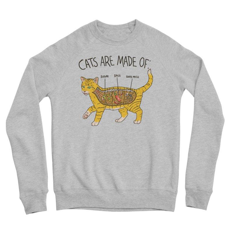 Cat Anatomy Men's Sponge Fleece Sweatshirt by Hillary White