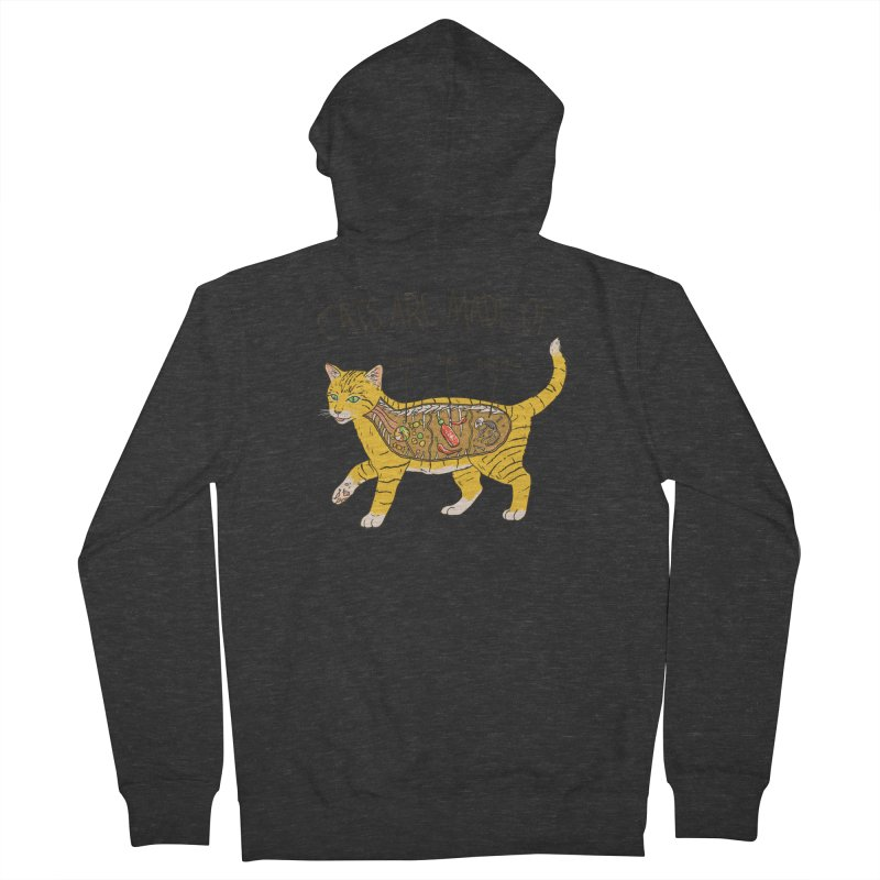 Cat Anatomy Men's French Terry Zip-Up Hoody by Hillary White