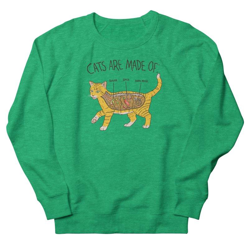 Cat Anatomy Men's French Terry Sweatshirt by Hillary White